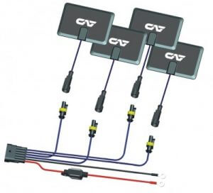 4 Pads and Wiring Harness